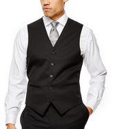 Claiborne Black Solid Suit Vest - Classic Fit