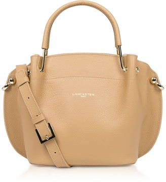 Two Tone Leather Double handles Satchel Bag