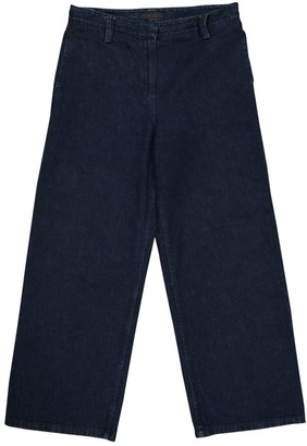 The Row Navy Cotton Jeans for Women