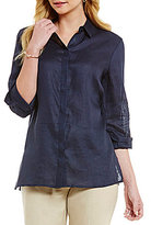 Preston & York Daphne Linen Button Down Blouse