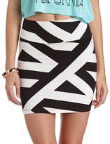 Charlotte Russe Black & White Mini Skirt