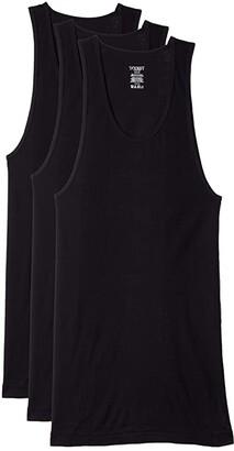 2xist 3-Pack Essential Athletic Tank Top (Black 1) Men's Underwear