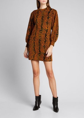 Ulla Johnson Lina Python Jacquard Mini Dress