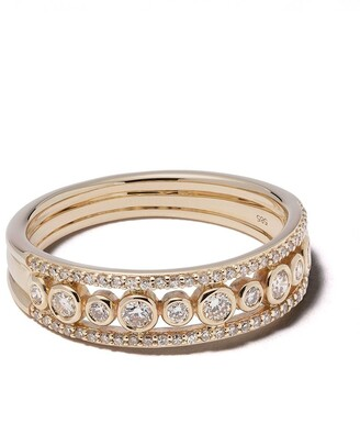 Astley Clarke 14kt gold diamond Triple Icon Nova ring