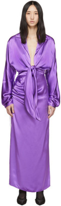 Materiel Tbilisi Purple Front Tie Dress