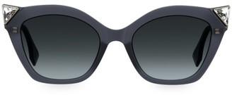 Fendi 53MM Jeweled Cat Eye Sunglasses
