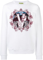 Versace logo print sweatshirt - men - Cotton/Spandex/Elastane - L