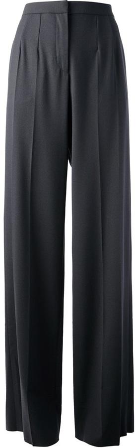 Giorgio Armani wool blend wide leg trouser