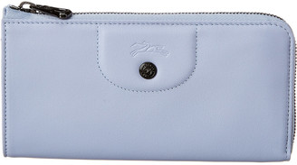 Longchamp Le Pliage Cuir Leather Zip Around Wallet
