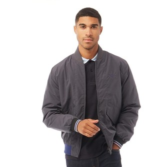 Fred Perry Mens Quilted Bomber Jacket Charcoal