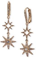 Jenny Packham Crystal Embellished Double Star Drop Earrings