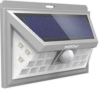 Mpow 24 LED Solar Lights Motion Sensor Security Lights, Solar Powered Light, Walkway Lighting Wireless Waterproof Security Light for Patio, Deck, Yard, Garden, Driveway, Outside Wall -Silver