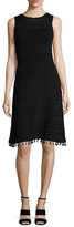 Derek Lam Cotton Tassel Trim A Line Dress