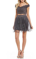 GB Social Off The Shoulder Lace Two-Piece Dress