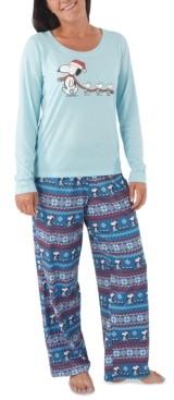 Munki Munki Women's Peanuts Family Pajamas Set