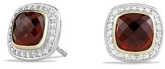 David Yurman Albion Earrings with Garnet and Diamonds with 18K Gold