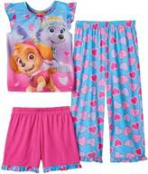 Sesame Street Nickelodeon Paw Patrol Toddler Girls 3 Piece Heart Pajama Set