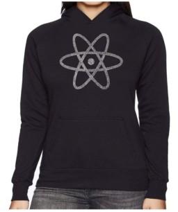 LA Pop Art Women's Word Art Hooded Sweatshirt -Atom