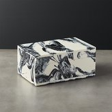 CB2 Pekoe Black and White Storage Box With Lid