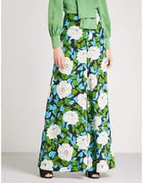 Diane von Furstenberg Floral-print wide-leg silk trousers