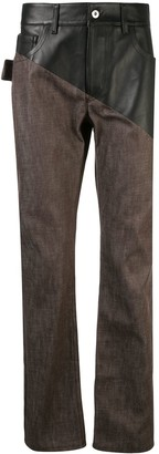 Bottega Veneta Panelled Straight-Leg Jeans