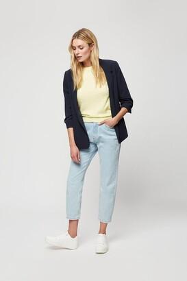 Dorothy Perkins Women's Lemon Textured Knitted Tee - S