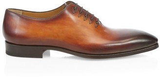 Saks Fifth Avenue BY MAGNANNI Burnished Leather Oxfords