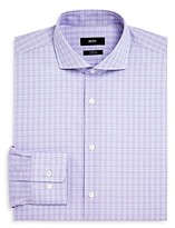 Boss Overcheck Regular Fit Dress Shirt