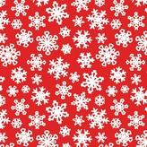 Fringe Red Snowflake Gift Wrap