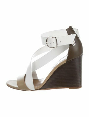 Hermes Leather Sandals Green