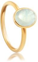 Astley Clarke Milky Aqua Quartz Oval Stilla Ring