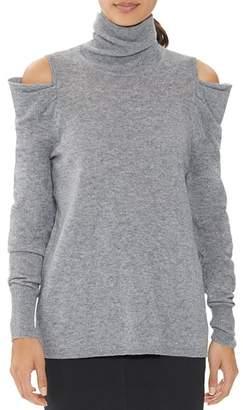 Halston Draped Cold-Shoulder Sweater