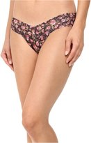 Hanky Panky Women's Tea Rose Low Rise Thong Multi Thongs