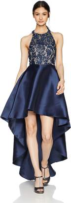 Speechless Junior's High-Low Mikado 2-Piece Formal Dance and Prom Dress