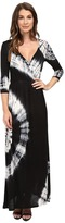 Culture Phit Aaric Wrap Front 3/4 Sleeve Maxi Dress