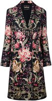 Roberto Cavalli floral print double breasted coat