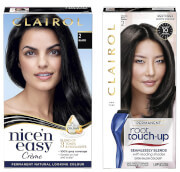 Clairol Nice' n Easy Permanent Hair Dye and Root Touch up Duo (Various Shades) - 2 Black