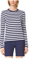 Michael Kors Striped Compact Cotton Crewneck