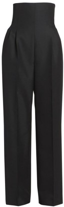 Alaia Corset High-Waist Wool Pants
