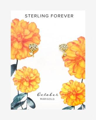 Express Sterling Forever October Birth Flower Stud Earrings