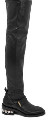 Nicholas Kirkwood Casati Embellished Stretch-leather Over-the-knee Boots