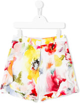 Simonetta floral print shorts - kids - Polyester - 10 yrs