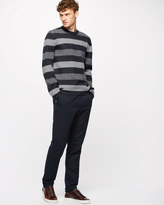 Boiled Merino Wool Stripe Crew