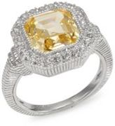 Judith Ripka Canary Crystal & Sterling Silver Ring