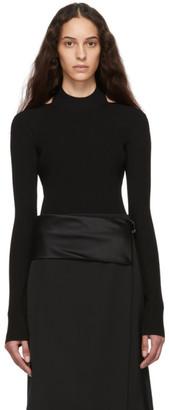Helmut Lang Black Open Back Sweater