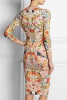 Alexander McQueen Floral-print stretch-jersey dress