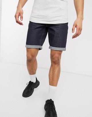 ONLY & SONS slim fit denim shorts in raw indigo