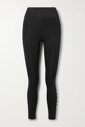 Nike Swoosh Run Printed Dri-fit Leggings - Black