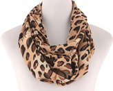 S Fashion Womens Leopard Print Loop Infinity Scarf