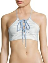 Jonathan Simkhai Striped Bikini Top